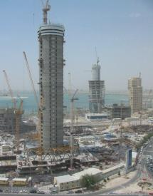 Towers being built on the coast of Doha, Qatar